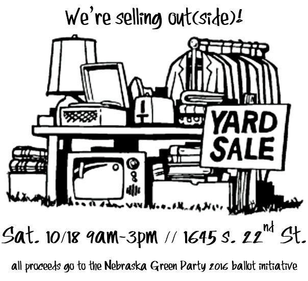 Nebraska Greens Yard Sale